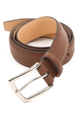 'Manchester' Leather Belt by Trafalgar in Daddy's Home