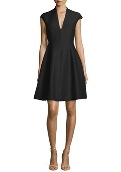Cap-Sleeve A-line Dress by Halston Heritage in La La Land