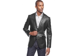Concepts Slim-Fit Faux-Leather Blazer by INC International in Ride Along 2