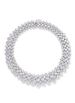 Multi Cut Cubic Zirconia Collar Necklace by CZ by Kenneth Jay Lane in The Man from U.N.C.L.E.