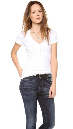 Deep V Neck Tee by Daftbird in And So It Goes