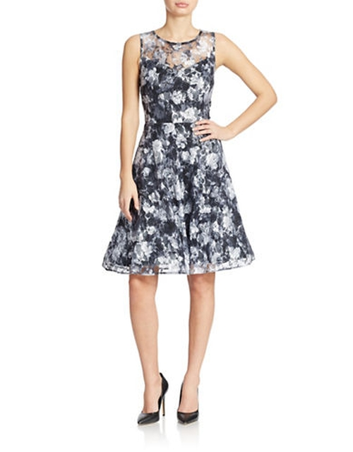 Floral Lace Fit And Flare Dress by Chetta B in The Big Bang Theory - Season 9 Episode 8