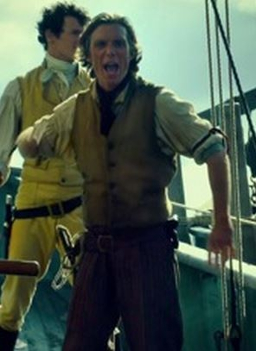 Custom Made Vintage Button Wool Vest (Matthew Joy) by Julian Day (Costume Designer) in In the Heart of the Sea