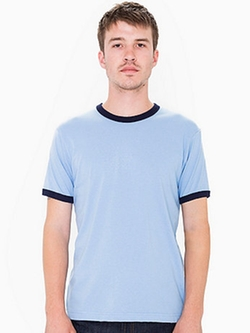 Fine Jerseyshort Sleeve Ringer T-Shirt by American Apparel in Ashby