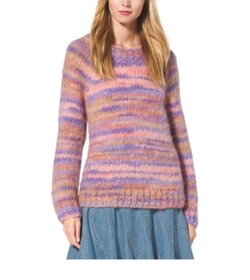 Space-Dyed Mohair Crewneck Sweater by Michael Kors Collection in Clueless