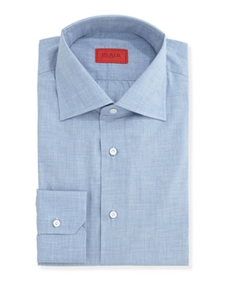 Woven Chambray Solid Dress Shirt by Isaia	 in The Blacklist