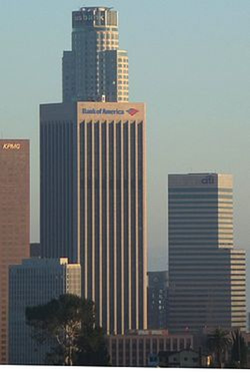 Bank of America Center Los Angeles, California in Taken 3