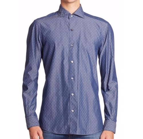 Micro Diamond Printed Shirt by Ermenegildo Zegna in Justin Timberlake and the Tennessee Kids