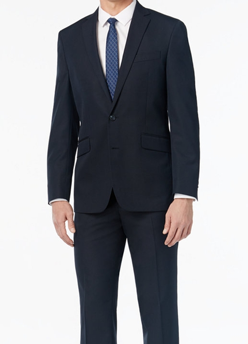 Men's Slim-Fit Navy Tonal Striped Suit by Kenneth Cole Reaction in Jack Reacher