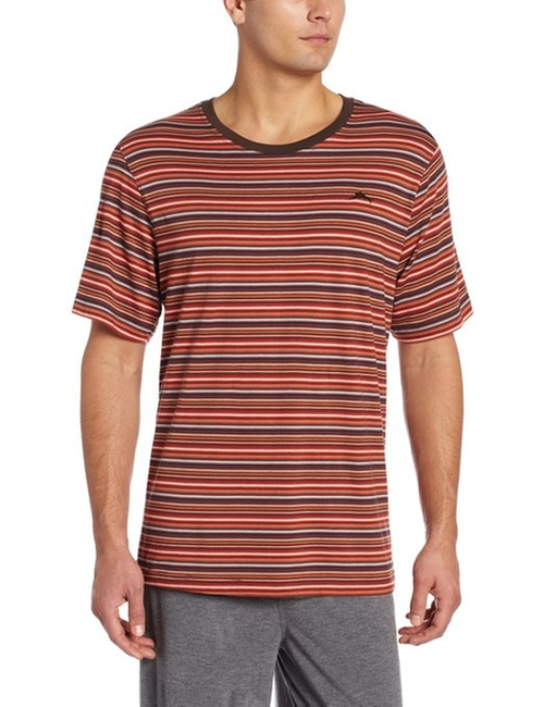 Men's Cotton Modal Striped T-Shirt by Tommy Bahama in Clueless