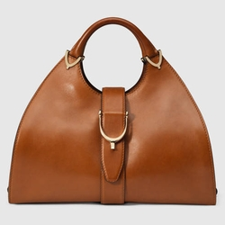 Stirrup Leather Top Handle Bag by Gucci in Suits