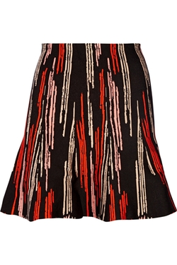 Maisie Stretch Jacquard- Knit Mini Skirt by Issa in The Mindy Project