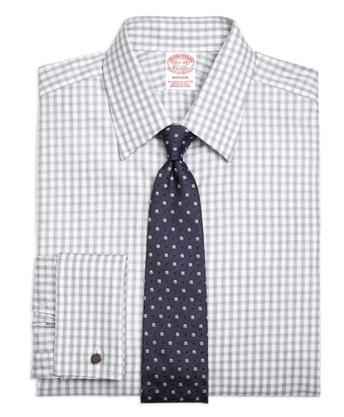 Madison Gingham Dress Shirt by Brooks Brothers in New Girl - Season 5 Episode 8