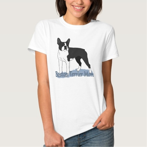 Boston Terrier Mom 2 Tees by Zazzle Apparel in Sisters