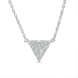Zales Diamond Triangle-Shaped Necklace