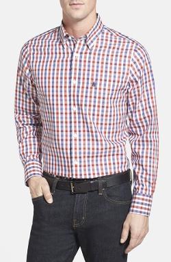 Smartcare Regular Fit Check Sport Shirt by Nordstrom in Entourage