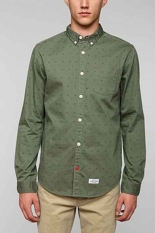 Knott Multi Dot Button-Down Shirt by CPO in The Flash - Season 2 Episode 2