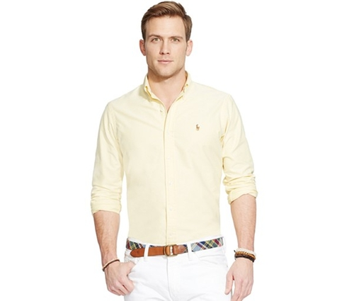 Yellow Oxford Shirt by Polo Ralph Lauren in Scream Queens - Season 1 Episode 9