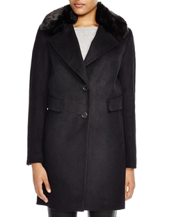 Faux Fur Reefer Coat by DKNY in The Good Wife