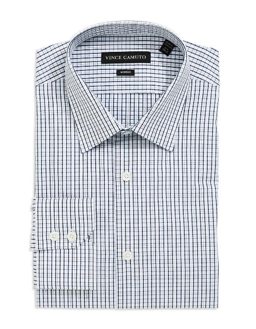 Fitted Checkered Dress Shirt by VINCE CAMUTO in This Is Where I Leave You