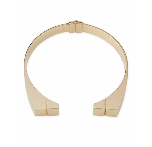 Engraved Bar Choker Necklace by Jason Wu in The Good Wife - Season 7 Episode 3