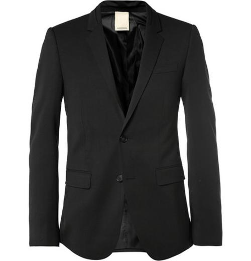 SLIM-FIT WOOL-BLEND SUIT JACKET by WOOYOUNGMI in About Last Night