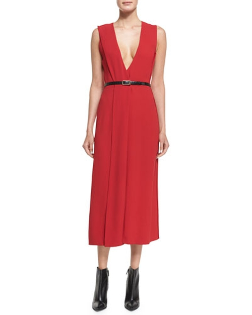 V-Neck Crepe Wrap Dress by Jason Wu	 in How To Get Away With Murder