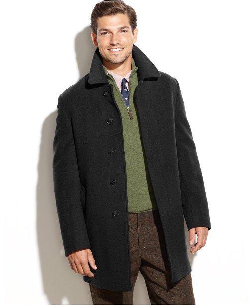 Jake Solid Wool-Blend Overcoat by Lauren Ralph Lauren in Run All Night