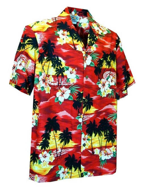 Brilliant Hawaiian Island Sunset Shirt by Pacific Legend in American Ultra