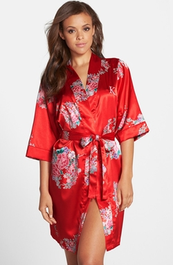 Floral Satin Robe by Cathy's Concepts  in Pretty Little Liars