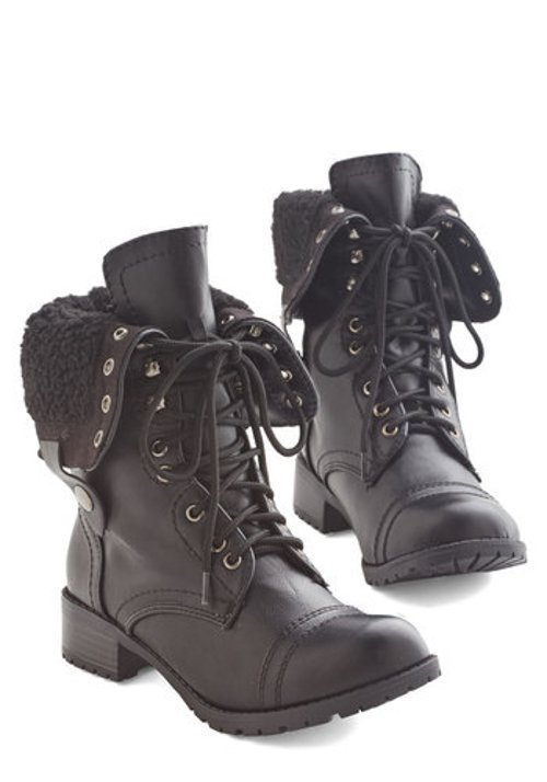 Set Yourself in Motion Boots by Mod Cloth in Get Hard