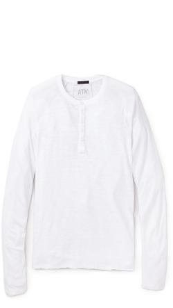 Destroyed Wash Henley Shirt by ATM Anthony Thomas Melillo in Man of Steel