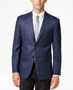 Men's Slim-Fit Plaid Sport Coat by Lauren Ralph Lauren  in Rosewood