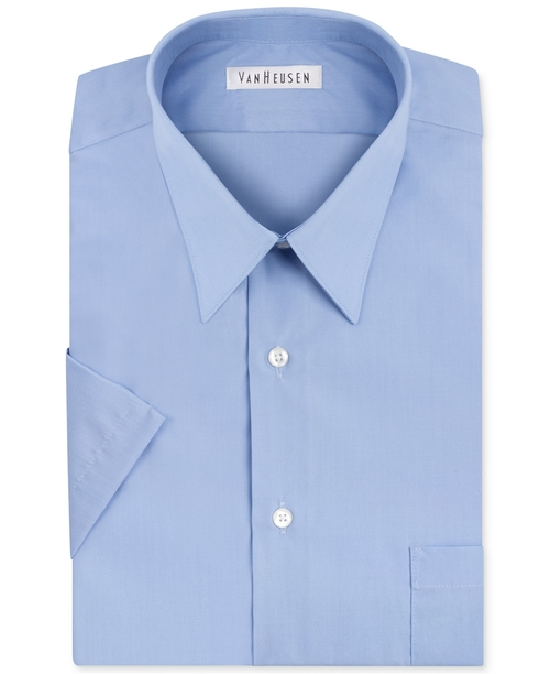 Solid Short-Sleeve Dress Shirt by Van Heusen in My All American