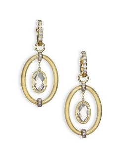 Yellow Gold Oval Link Earrings by Jude Frances in The Second Best Exotic Marigold Hotel