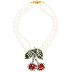 Cherry Necklace by Shourouk in Scream Queens