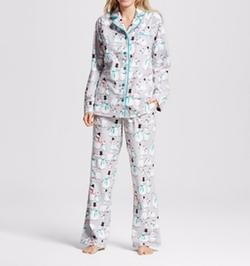 Snowman Flannel Pajamas by Nite Nite Munki Munki in New Girl