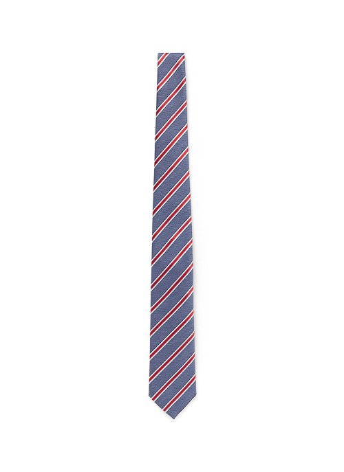 Colourblock Regimental Stripe Silk Tie by Canali in Unfinished Business
