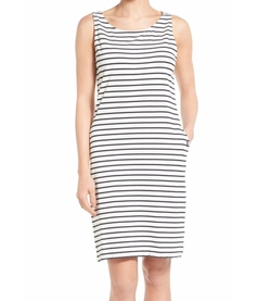 'Dalmore' Stripe Jersey Shift Dress by Barbour in New Girl