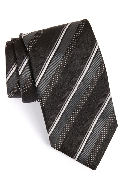 Stripe Silk Tie by Canali in Hitman: Agent 47