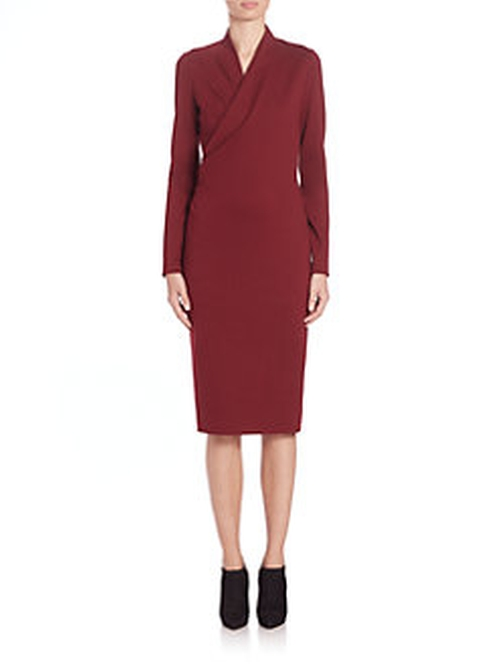 Fitted Wrap- Front Dress by Alexander McQueen in How To Get Away With Murder