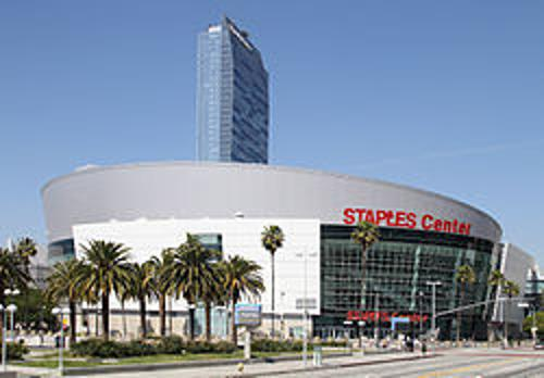 Staples Center Los Angeles, California in Let's Be Cops