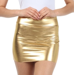 Shiny Metallic Liquid Mini Skirt by Sakkas in Trainwreck