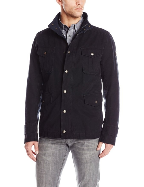 Men's Otego-W Washed Cotton Canvas Field Jacket by Boss Orange  in Supernatural - Series Looks