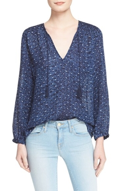'Ayala' Smocked Cotton Peasant Top by Joie in The Big Bang Theory