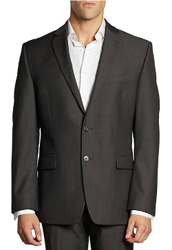Slim-Fit Wool Jacket by Calvin Klein in The Best of Me