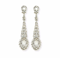 Victorian-Style Crystal Drop Earrings by Jose & Maria Barrera in A Wrinkle In Time