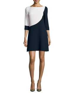 Colorblock Swing Dress by Kate Spade New York in Supergirl