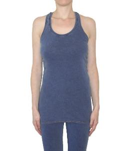 Giselle Denim Racer Back Tank by Pima Doll in What If