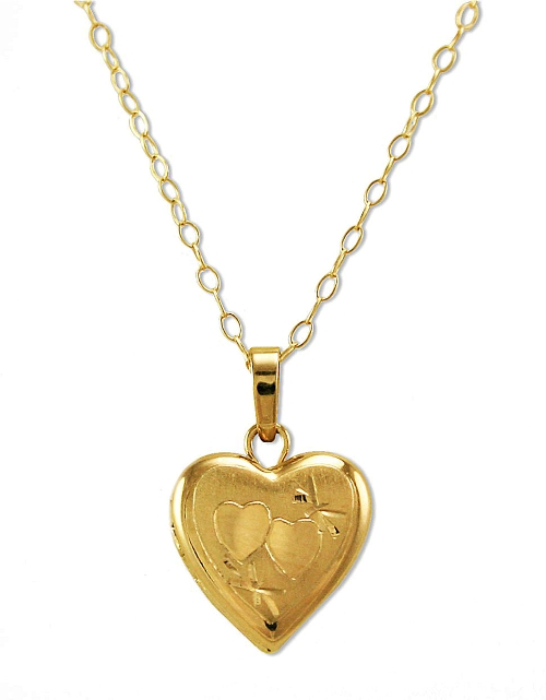Small Heart Locket Necklace by Lord & Taylor in Cut Bank